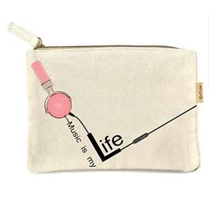 Canvas Music is my Life Cosmetic Bag